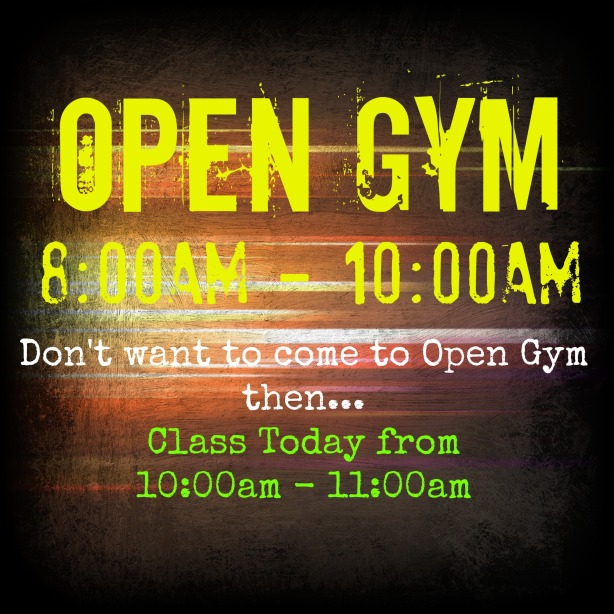 Saturday Open Gym
