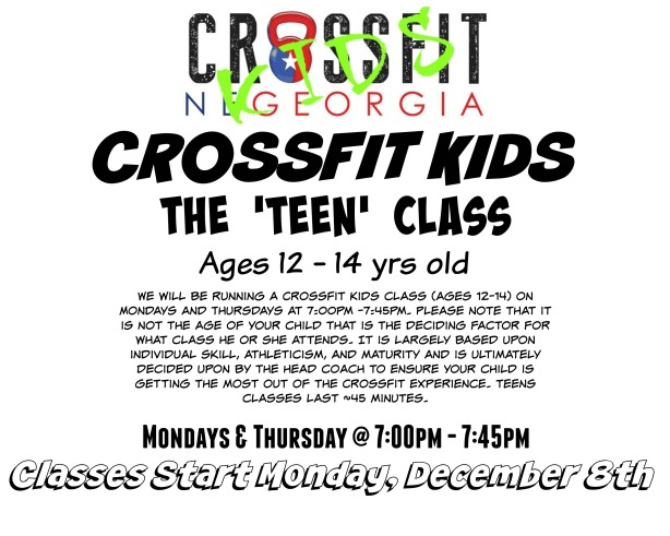 CrossFit Kids Teen Class
