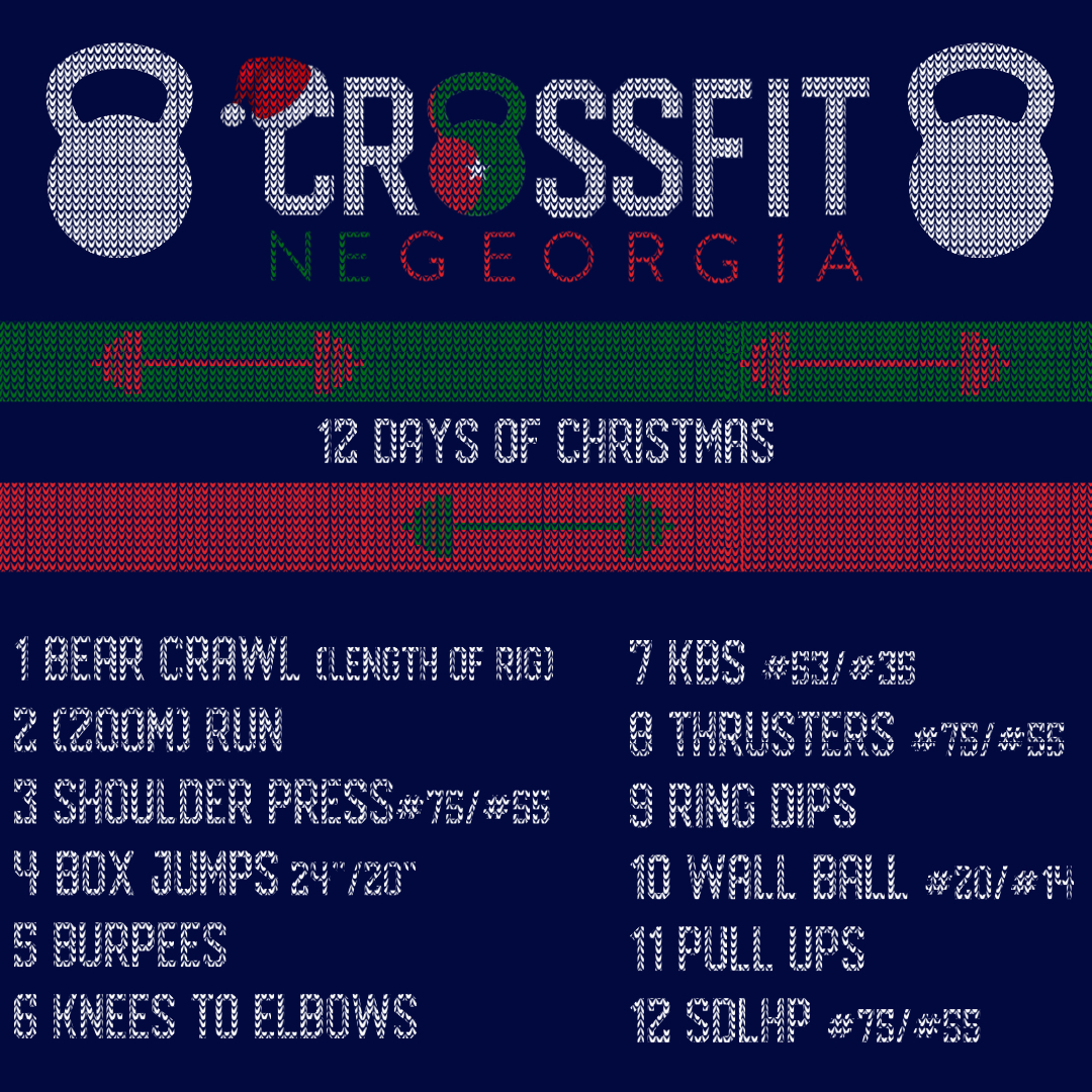 12 Days Of Christmas Crossfit Wod.12 Days Of Christmas Wod Crossfit